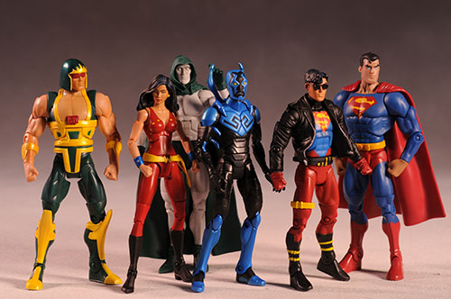 DCUC Superboy, Cyclotron, Blue Beetle, Donna Troy action figure by Mattel
