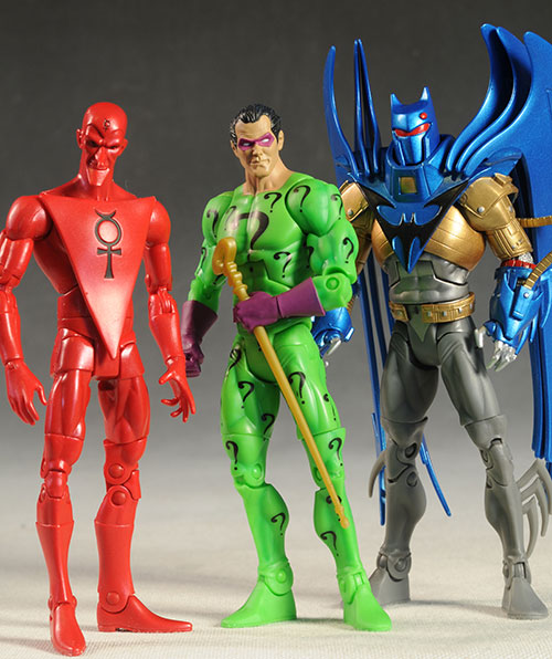 Riddler, Mercury, Azrael action figures by Mattel