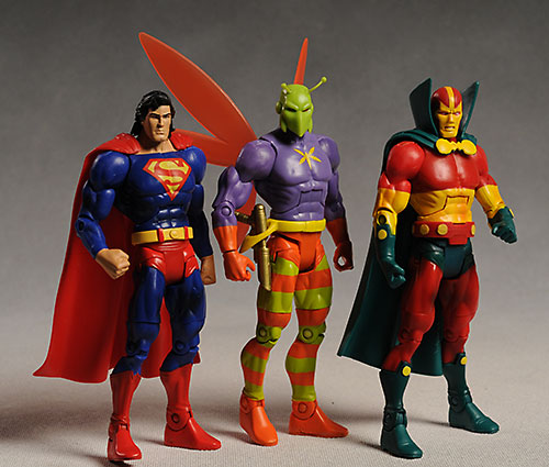DCUC Mr. Miracle, Killer Moth, Superman action figures by Mattel