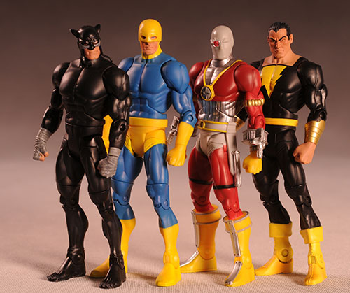 DCUC Wildcat, Guardian, Deadshot, Black Adam action figures by Mattel