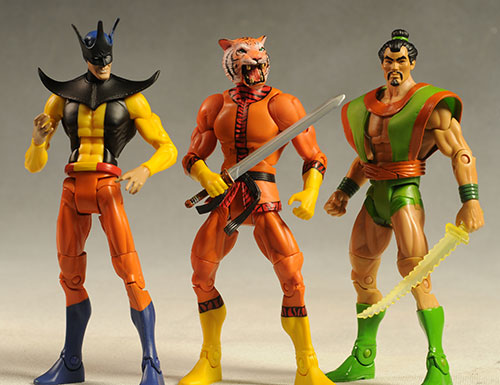 DCUC Bronze Tiger, Toyman, Samurai action figures by Mattel