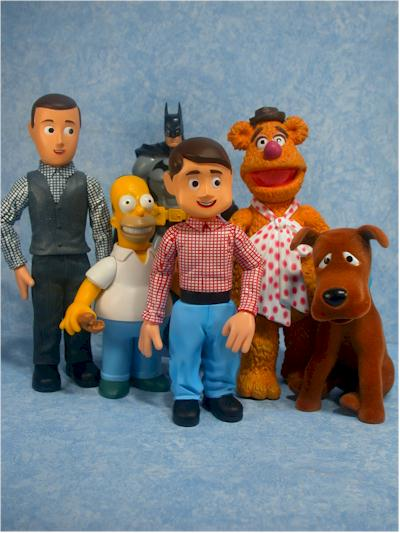 Davey and Goliath action figures by Majestic Studios
