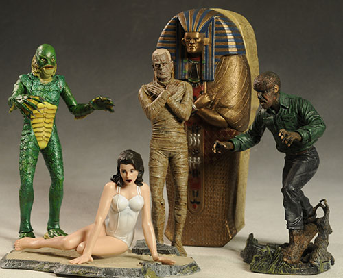 Universal Monsters Mummy, Creature, Wolfman figure by DST