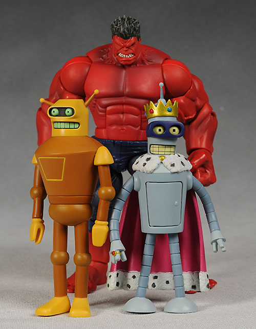Futurama Calculon, Super King Bender action figure by Toynami
