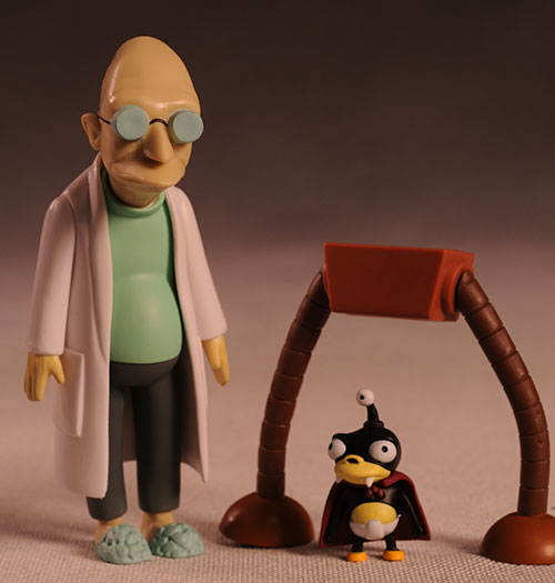 Futurama Farnsworth, Hermes action figures by Toynami