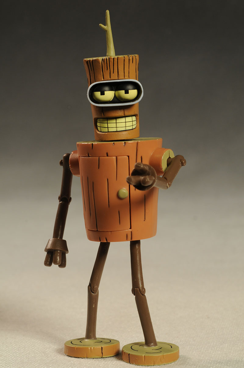Futurama Wooden Bender, URL action figure by Toynami