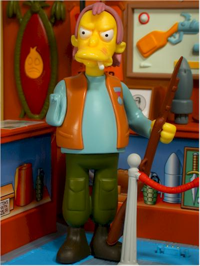 World of Springfield Simpsons Herman action figure
