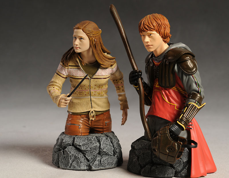 Harry Potter Ron and Ginny Weasley mini-bust by Gentle Giant