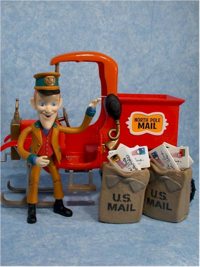 Kluger and Mail Truck Christmas action figure by Playing Mantis