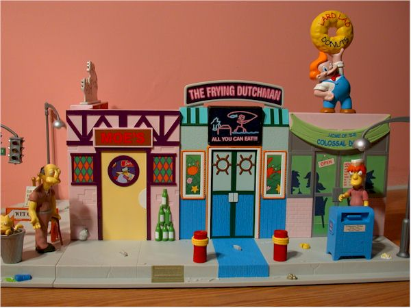 World of Springfield Simpsons Main Street play set by Playmates Toys