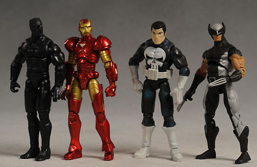 Marvel Universe Iron Man, Wolverine, Black Panther, Punisher action figure by Hasbro