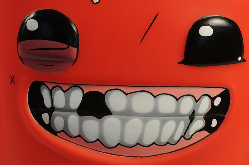 Super Meat Boy vinyl figure by Symbiote Studios