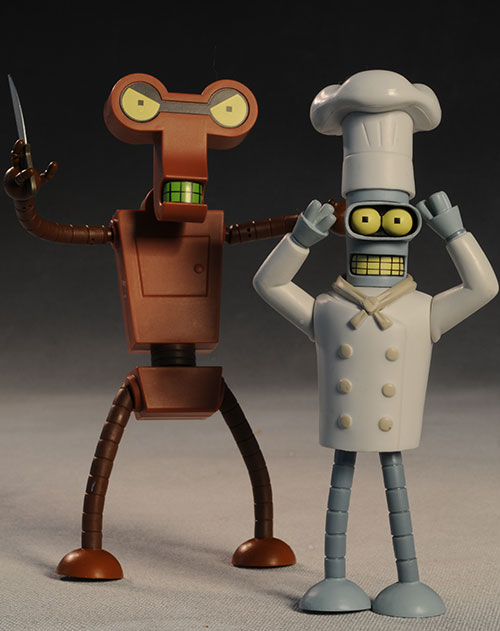 Futurama Chef Bender, Roberto action figure by Toynami
