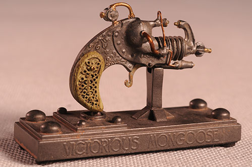 Dr. Grordbort's Victorious Mongoose miniature pistol by Weta