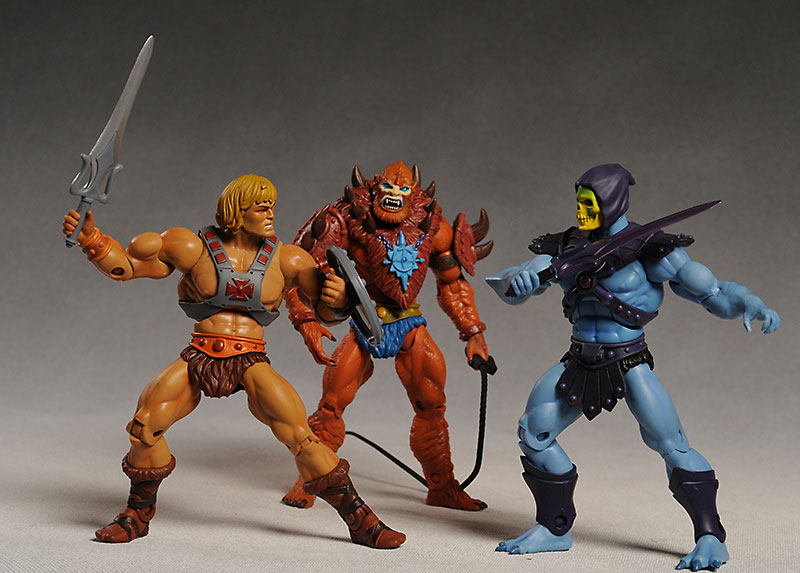 Masters of the Universe Classics He-man, Beast Man, Skeletor action figure by  Mattel