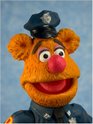 Muppets Patrol Officer Fozzie action figure by Palisades
