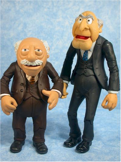 Palisades Muppets Statler and Waldorf action figures