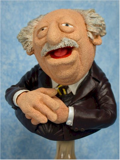 Muppets Statler, Waldorf, Gonzo, Sam mini-bust by Sideshow