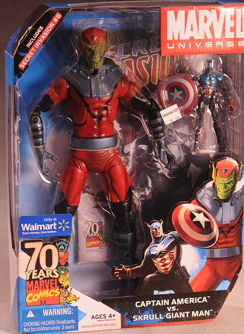 Marvel Universe Skrull Giant Man, Captain America action figure by Hasbro