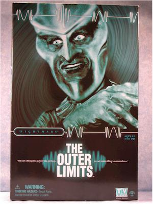 Outer Limits Gwyllm, Ebonite Interrogator figures by Sideshow