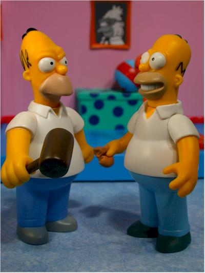 World of Sprinfield Flashback Simpsons action figures by Playmates