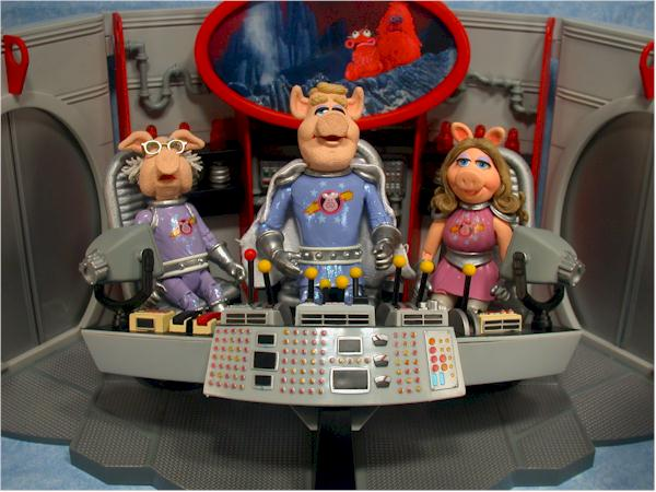 Palisades Muppets Pigs in Space play set