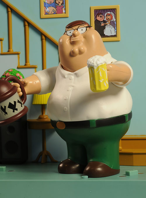 Family Guy Peter Toy : Review and photos of family guy series action figures
