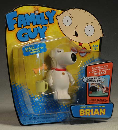 Family Guy Cleveland, Quagmire, Brian, Stewie figures by Playmates