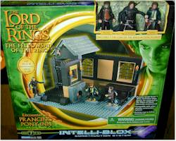 Encounter at Prancing Pony Lord of the Rings Intelliblox play set by Playmates