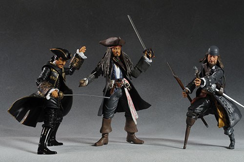 Pirates of the Caribbean Sparrow, Barbossa action figures by Jakks