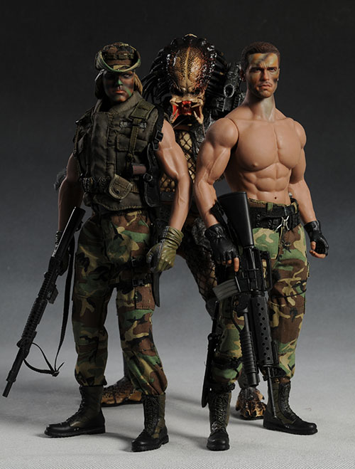 Predator, Dutch, Billy sixth scale action figures by Hot Toys
