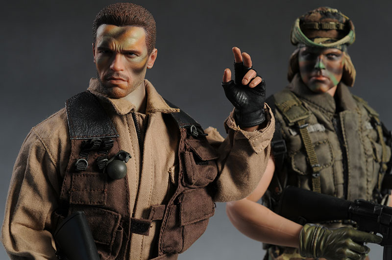 Predator Dutch, Billy sixth scale action figures by Hot Toys