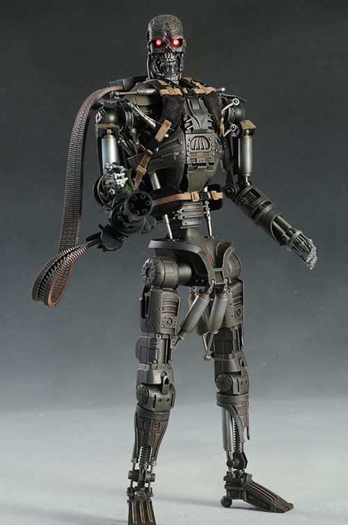 Terminator: Salvation John Connor, T-600 action figures by Hot Toys