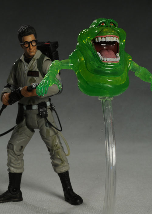Ghostbusters Egon Spengler, Slimer action figures by Mattel