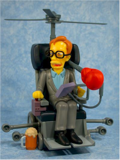 Simpsons Stephen Hawking action figure