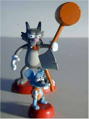 Simpsons Itchy and Scratchy action figures