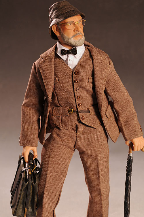 Indiana Jones Dr. Henry Jones Sr. action figure by Sideshow Collectibles
