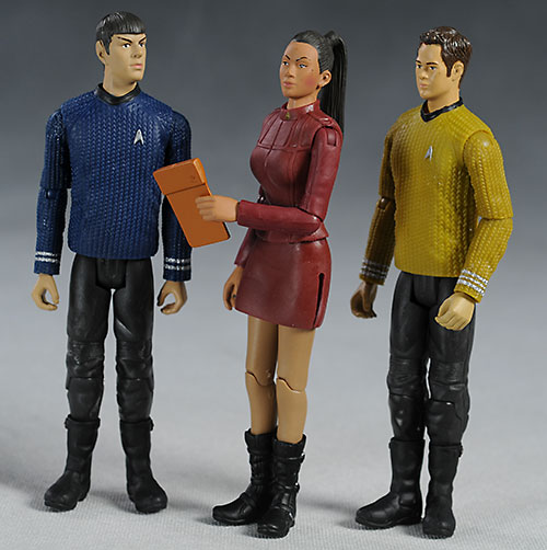 Star Trek Warp Collection Kirk, Uhura, Spock action figures by Playates Toys