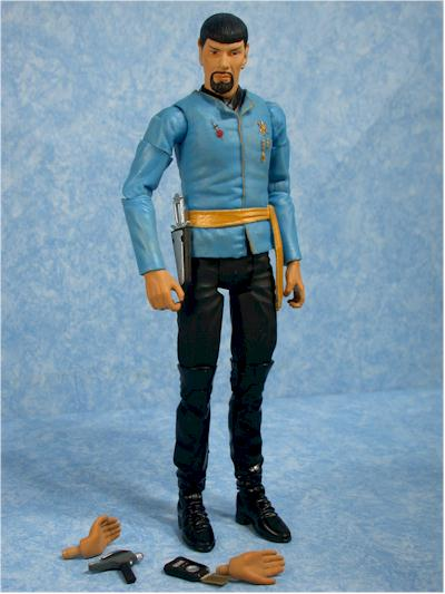 Star Trek Original Series Mirror Mirror Spock action figure by Art Asylum