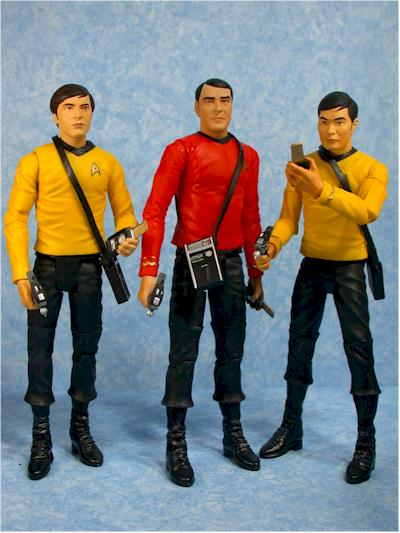 Star Trek Original Series Sulu, Chekov, Scotty action figures by Art Asylum