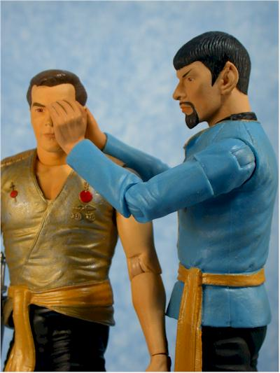 Star Trek Original Series Mirror Mirror Kirk, Spock action figures by Art Asylum