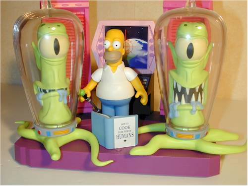 Simpsons Kang and Kodos action figures