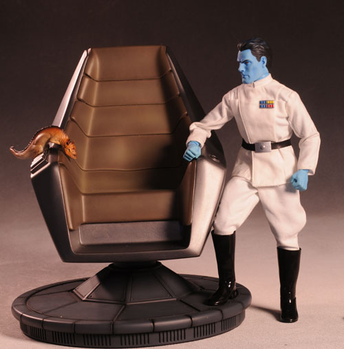 Star Wars Grand Admiral Thrawn, Command Chair figure by Sideshow