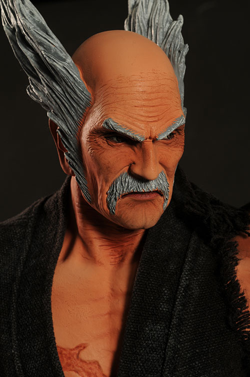 review and photos of triad toys tekken heihachi mishima statue captain toy