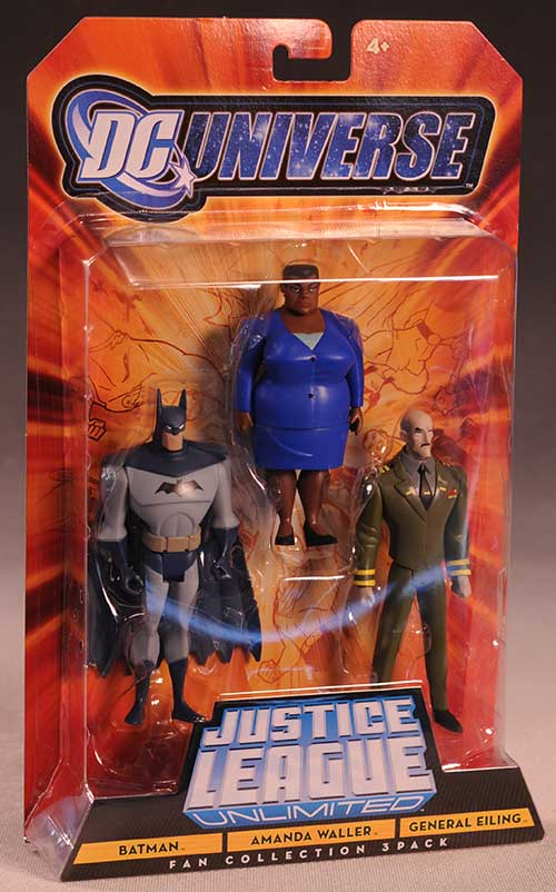 Justice League Unlimited Amanda Waller, Batman, Eiling action figures by Mattel