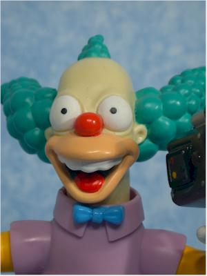 World of Springfield Simpsons Krusty Wave 1 action figure by Playmates