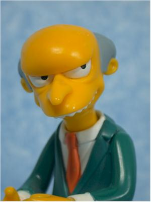 World of Springfield Simpsons Mr. Burns Wave 1 action figure by Playmates