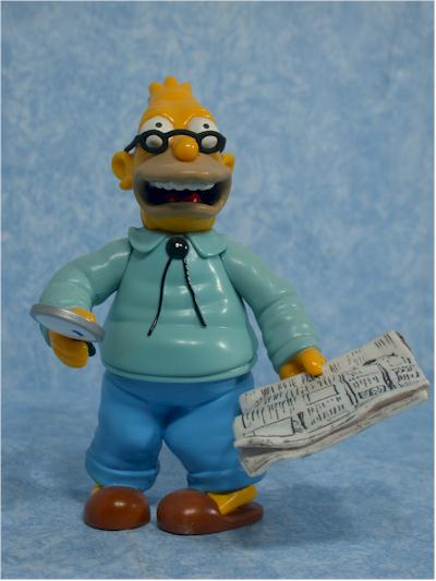 World of Springfield Simpsons Grampa Wave 1 action figure by Playmates