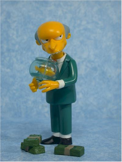 Playmates Simpsons Mr.Burns action figure