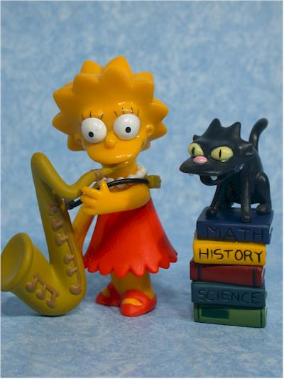 World of Springfield Simpsons Lisa Wave 1 action figure by Playmates